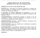 Câmara prorroga suspensão do expediente interno