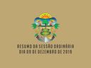 RESUMO DA SESSÃO ORDINÁRIA DO DIA 09 DE DEZEMBRO DE 2019