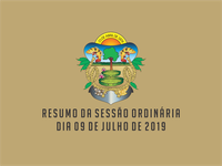 RESUMO DA SESSÃO ORDINÁRIA DO DIA 09 DE JULHO DE 2019