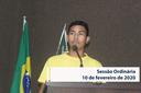 RESUMO DA SESSÃO ORDINÁRIA DO DIA 10 DE FEVEREIRO DE 2020